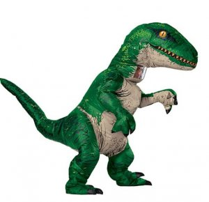 Green dinosaur costume for adults 11