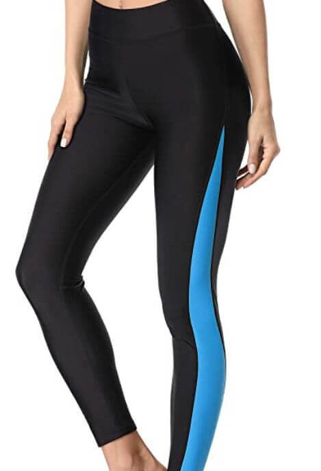 swimming pants to hide stretch marks on thighs and legs