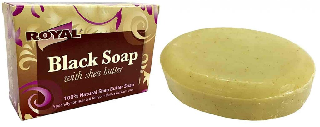 Black Soap with 100% Natural Shea Butter by Royal